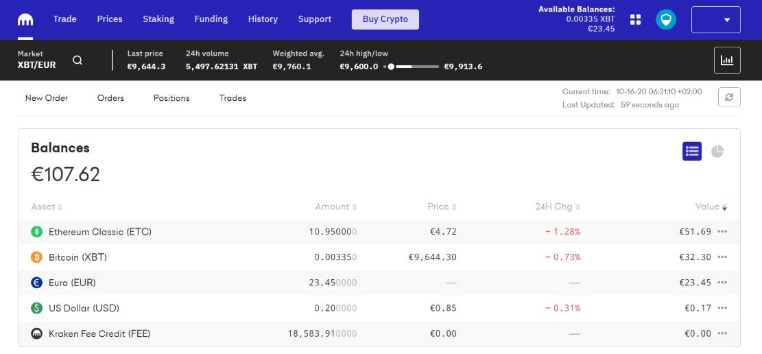kraken bitcoin deposito non mostrato