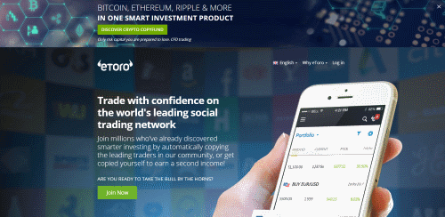 etoro review printed front screen