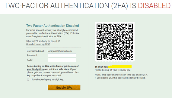 Poloniex Lost Authenticator Crypto Exchanges Without Fees