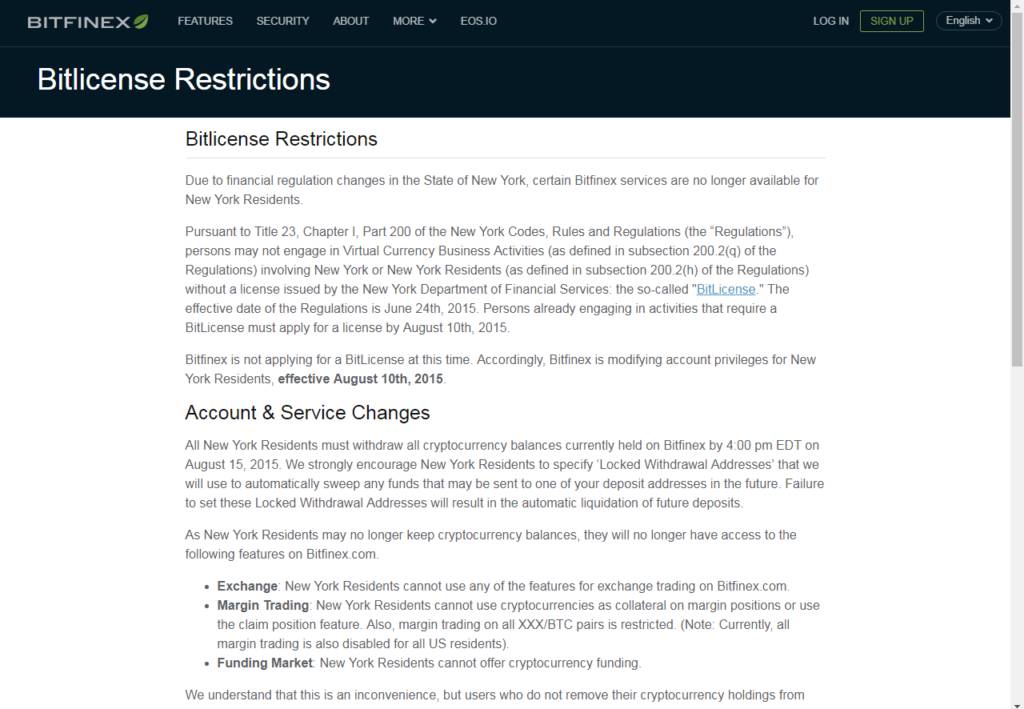crypto trading regulations bitfinex screen