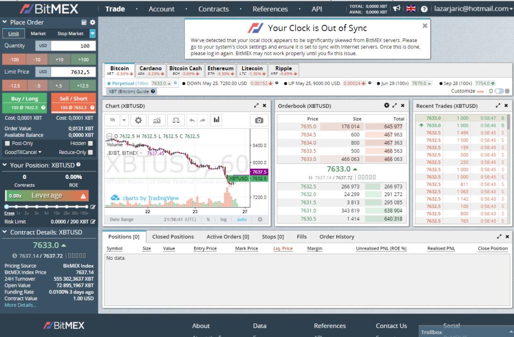 crypto trading terms bitmex screenshot