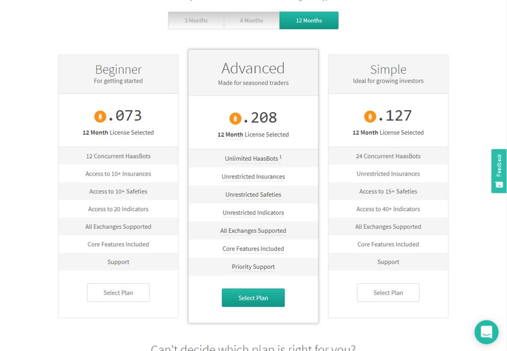 crypto trading tools haasonline price plan