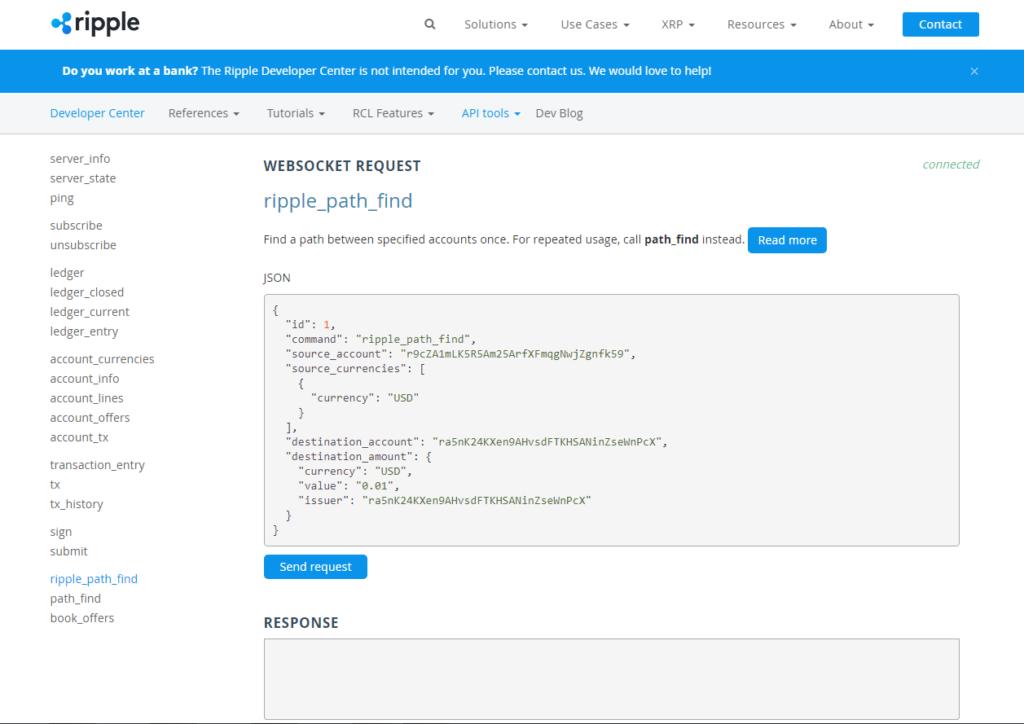 Ripple trading API tools