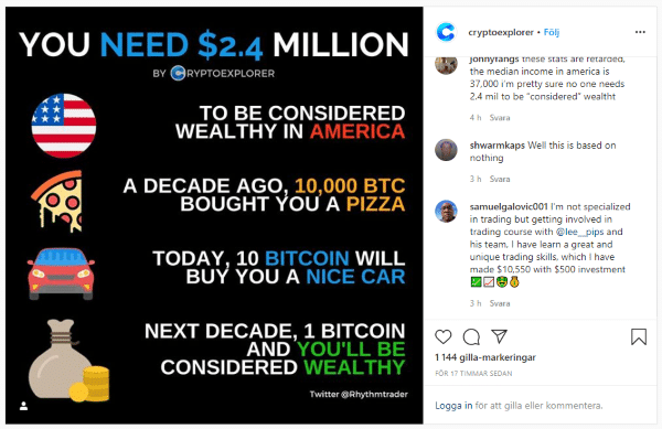 Cryptoexplorer Instagram Crypto Account Post