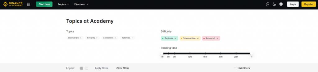 Free crypto trading courses adn binance academy categories screenshot