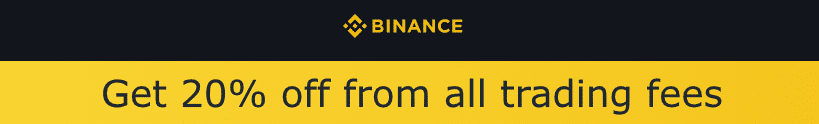 Get 20% from all trading fees with binance