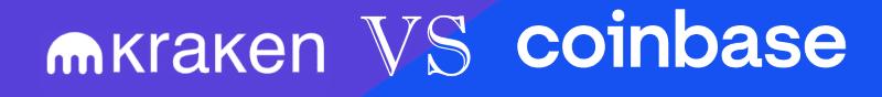 Kraken VS Coinbase logo