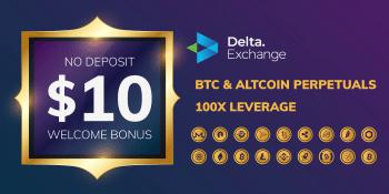 No deposit bonus Delta exchange