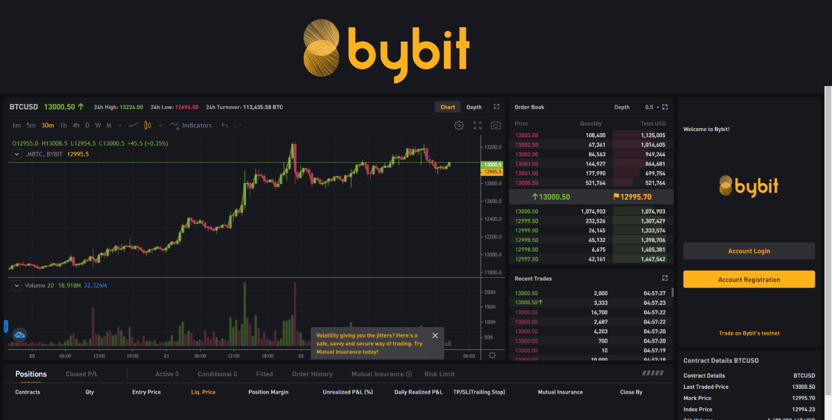 Bybit guide and review 2020 feature image screenshot