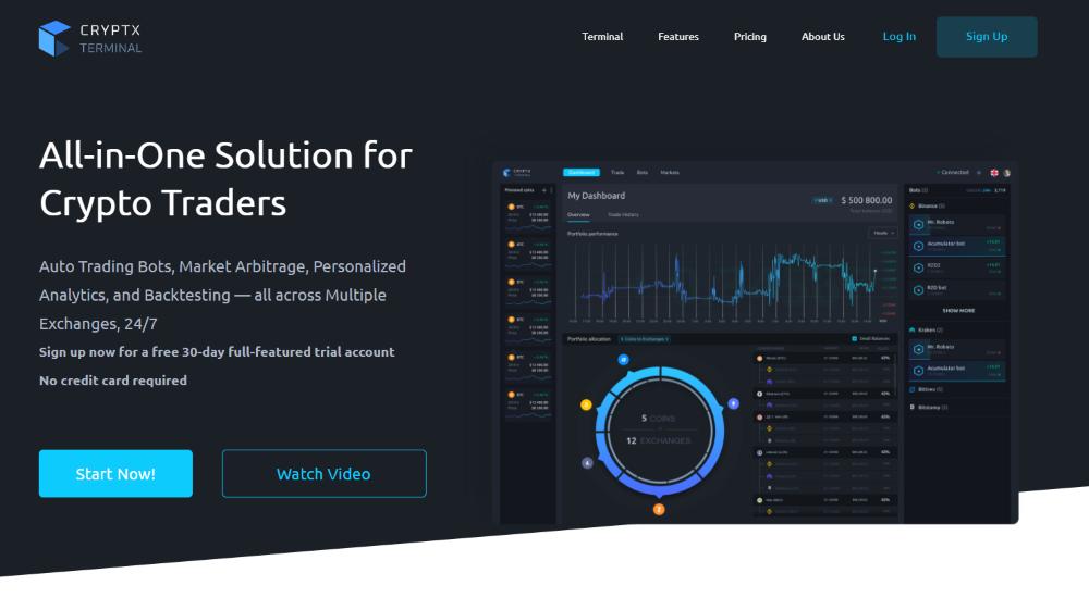 Cryptx Terminal Review 2021 screenshot